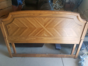 Solid oak headboard