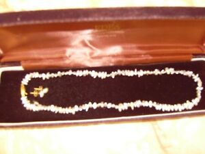 Baroque pearl necklace and earring set