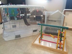 Med to lrg bird cage, night time cage and play pen