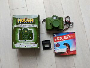 Rare Green Holga Camera, New In Box and Photo Book.