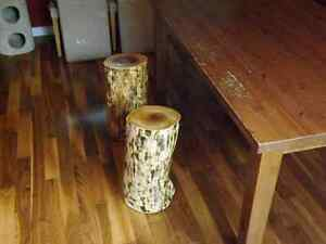 RUSTIC LIVE EDGE STOOLS, ACCENT PIECE, COFFEE TABLE  Kitchener / Waterloo Kitchener Area image 7