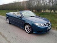 2007 SAAB 9-3 CONVERTIBLE 1.9TiD ( 150PS) VECTOR, SIX SPEED MANUAL, BLUE