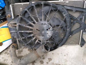 1999 Ford mustang radiator and fan $60