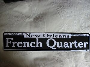 French Quarter Metal Sign West Island Greater Montréal image 1
