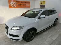 White Audi Q7 3.0TDI Quattro S Line Auto ***FROM £624 PER MONTH***