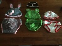 Handmade baby prop outfits