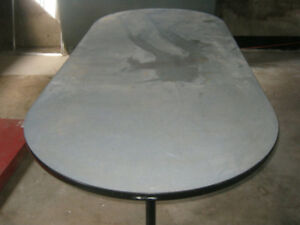 """Tables 7' x 3', Folding table 6' x 30"""", work table no legs 9'"""