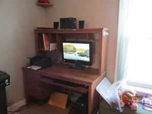 Computer Desk with Hutch and Sliding Keyboard Drawer