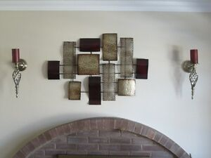 ORNAMENTAL METAL WALL ART & SCONCES
