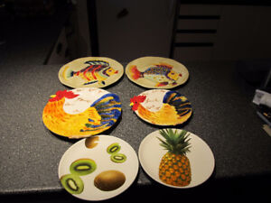 Hand painted wall decor plates.