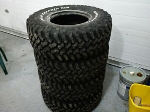 33x12.50r15 BFGoodrich mud terrain t/a tires like new