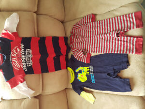 3-6 month boys rompers