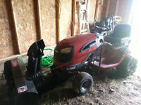 craftsman garden tractor and snow blower