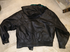 Quality soft leather mens Bomber jacket