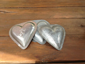 Confectioners Tin Heart- shaped  Molds