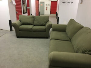 Beautiful Sklar Peplar Olive colored COUCHES Free delivery