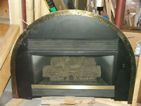 Brand new never used gas fireplace.
