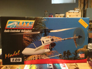 Vintage Radio Controlled Helicopter Lite Machines Model 120