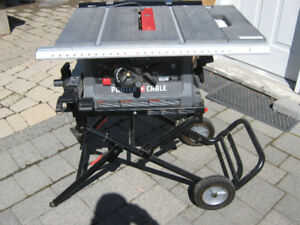portable saw on wheel, moving out sale just like new
