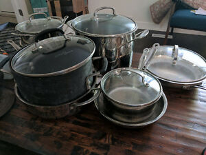 Cuisinart 11 piece stainless steel cookware set + Calphalon 6 qt