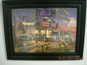 "Custom Framed Puzzle ""Days to Remember"" Veterans Day American"