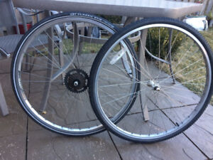 Road bike wheels FRONT and REAR 28 x 1  5/8 x 1   3/8