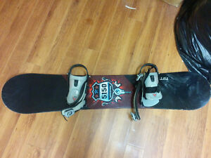 5150 snowboard in 125cm with m/s bindings