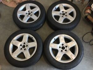 4 AUDI VW RIMS with 225 55 17 Continental DWS Extreme Contact