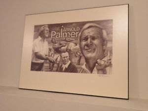 Framed ARNOLD PALMER artwork