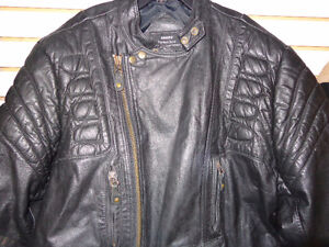 Vintage leather jacket-size 46 tall-  recycledgear.ca