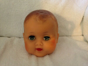 Vinyl Doll Head circa 1960's London Ontario image 1