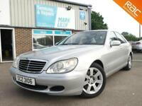 2003 MERCEDES S320 CDI SILVER WITH BLACK LEATHER DIESEL ONLY 81,000 ! 1 OWNER