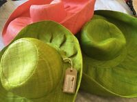 3 beautiful summer hats - great for eBay/market stalls