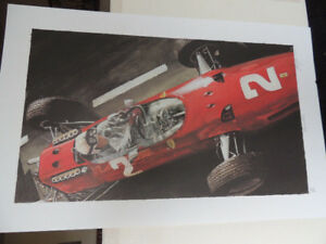 SIGNED PRINT ARTWORK  - GRAND PRIX -