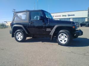 New 17 Jeep Wrangler Sport 6 speed manual