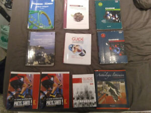 Livres Cegep Science Pure (Math, Chimie, Ed Phy, Francais ..)