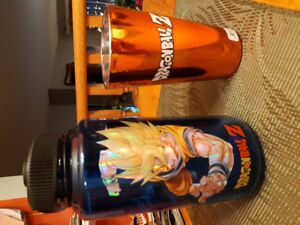 DragonBall Z water bottle and insulated glass