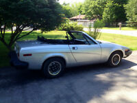 ORIGINAL TR7 ROADSTER,5 SPEED MANUAL TRANSMISSION,RUST FREE