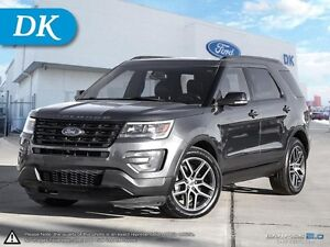 2016 Ford Explorer Sport AWD w/Leather, Moonroof, and More!