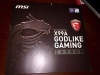 New! MSI X99A GODLIKE Gaming Carbon Intel LGA2011-3 DDR4 Motherboard
