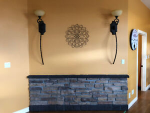 2 Wall Sconces for $50