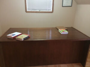 Solid wood professional desk with optional chairs