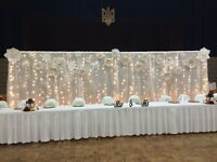 Backdrop with Paper Flowers Rental