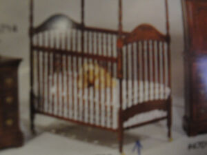 BABY CRIB -  INCLUDES MATTRESS, FOLDING CHANGE TABLE WITH PAD