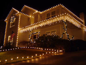Rooftop / Christmas Village Lights - soft yellow -120ft string