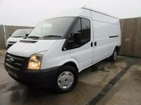 FORD TRANSIT VAN 2.2 TDCI T350 LWB MED ROOF125 BHP FULL FORD SERVICE HISTORY VGC