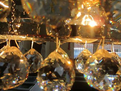 Chrom, Bleikristall (DESIGNER Pendelleuchte Echglas Bleikristall Lüster Lampe Facettschliff Chrom)