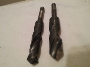 """Drill bit set ,,full set,,up to 1/2""""  and  one 15/16   one 13/16"""