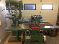 General planer, edger, drill press and bandsaw