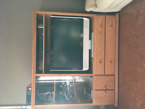 Oak Cabinet / Entertainment Display Set